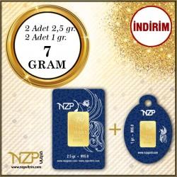 7 Gram (2 AD 2.5 GR+2 AD 1GR) Gram Altın - NZP Gold