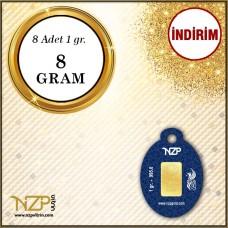 8 Gram (8 x 1) Gram Altın - NZP Gold GRAM ALTIN
