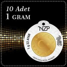 10 Gram (10 x 1) 22 Ayar Yuvarlak Altın - NZP Gold