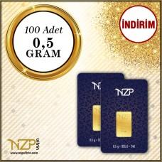 50 Gram (100 x 0.5) Gram Altın