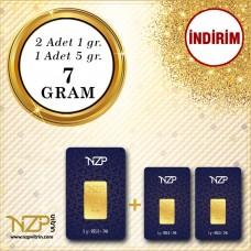 7 Gram (5+1+1) Gram Altın NZP Gold GRAM ALTIN