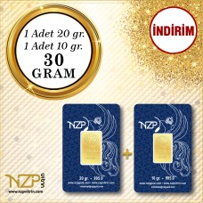 30 Gram (20+10) Gram Altın - NZP Gold GRAM ALTIN