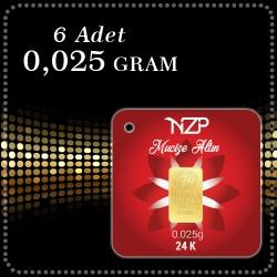 0.025 Gram x 6 lı Külçe Altın